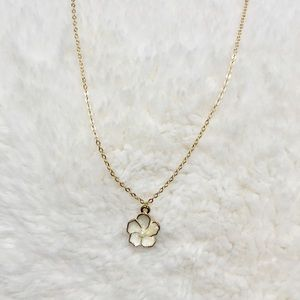 New Gold Flower Necklace